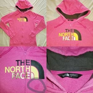 Women's The North Face Pink zip up Hoodie Large